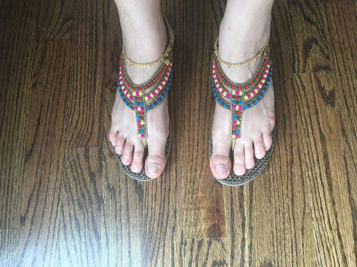 Indian sandals!