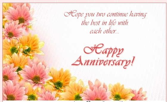 Both Of You Two Be Happy, HAPPY ANNIVERSARY to two very special people. Wishing many more wonderful hearts together.