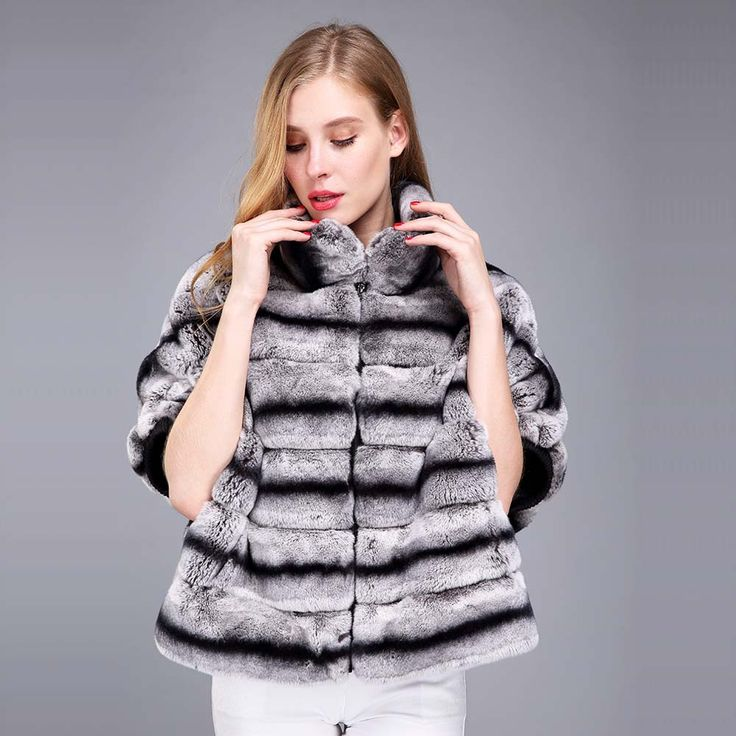 >> Click to Buy << Chinchila Real rex rabbit fur coat Bat shirt women natural fur coats full leather with cotton #Affiliate