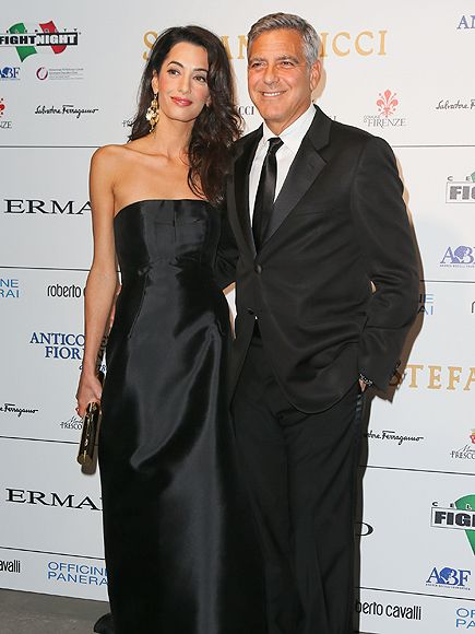 George Clooney Talks Wedding at Charity Event in Italy http://www.people.com/article/george-clooney-amal-alamuddin-wedding-date