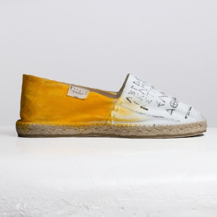ERGON MYKONOS Yellow Αlphabet Espadrilles