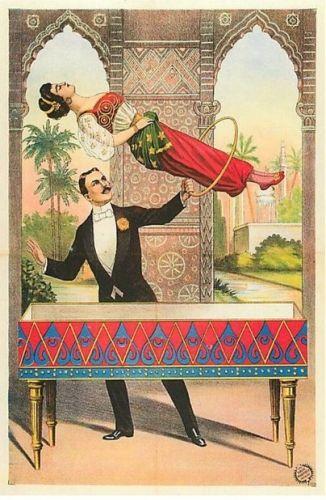 Vintage levitation graphic. ~via Reptilia Plaster Caster