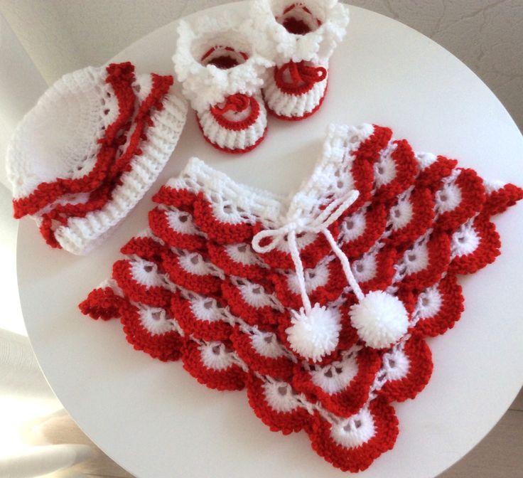 Een persoonlijke favoriet uit mijn Etsy shop https://www.etsy.com/nl/listing/557101342/kerst-kleding-baby-poncho-baby-muts-en