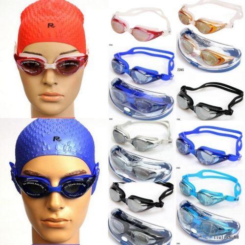 MensNon-Fogging UV Swimming Goggles Swim Glasses Adjustable Comfort F Adult