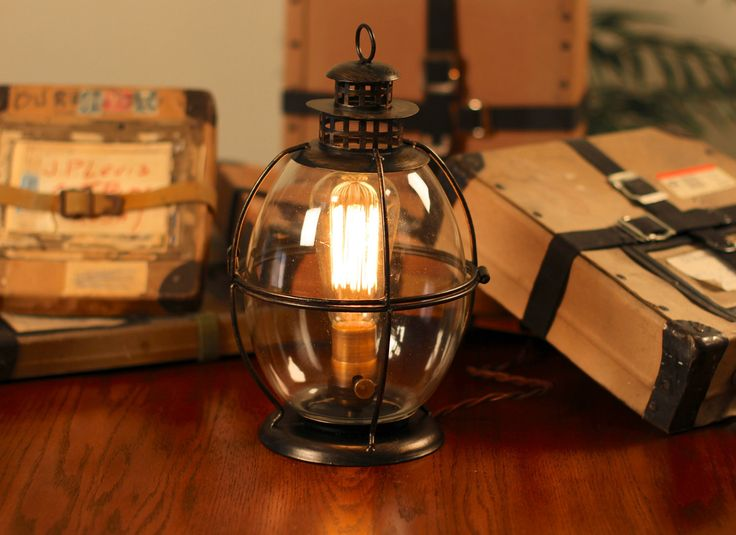 1000+ images about Funky Lamps on Pinterest | Tin can lights ...vintage-industrial-table-lamps-edison-lamp-vintage-lantern-table-lamp-rustic-by-dancordero-pic.jpg