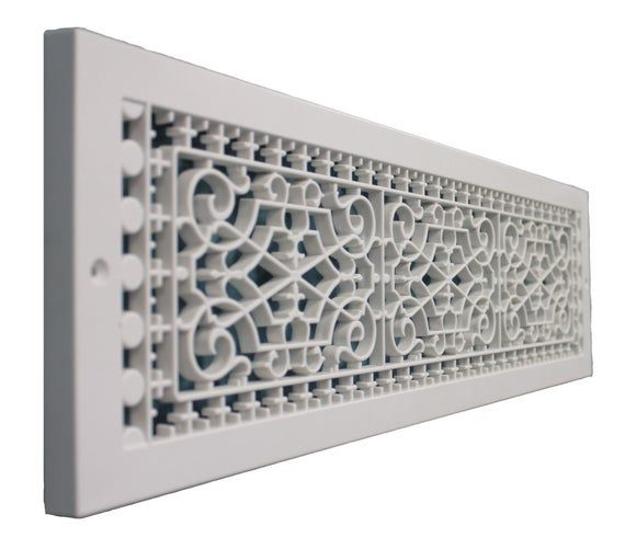 Victorian Style Base Board Grille Vent Customize Your Home With These Decorative Cold Air Returns No More Dented M Decorative Vent Cover Hvac Cover Air Return