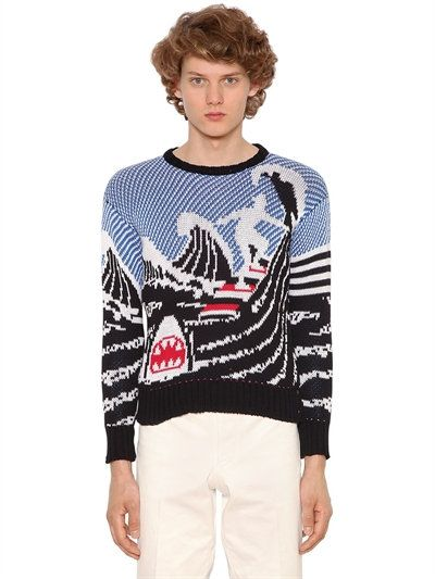 Pull ''surfeur et requin'', Thom Browne (taille 1)