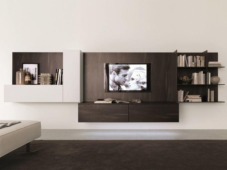 Muebles modernos para tv y equipo de sonido ideas para for Muebles de tv modernos