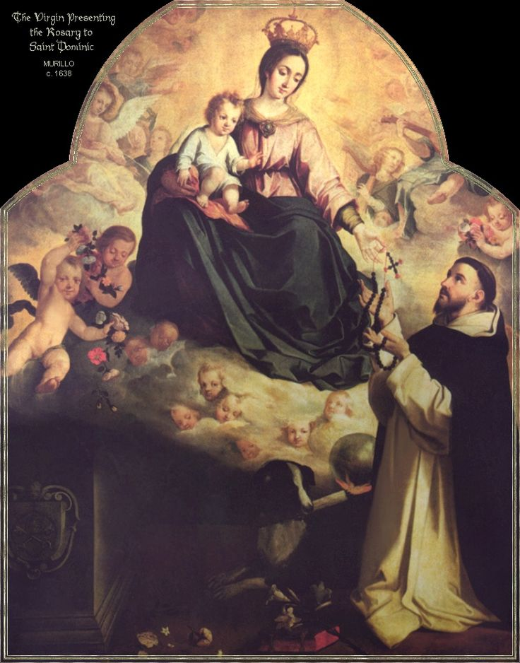 Our Lady giving the Rosary to St. Dominic