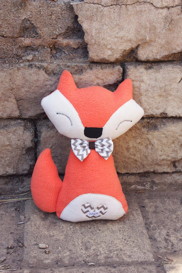 A personal favorite from my Etsy shop https://www.etsy.com/listing/254098637/franco-fox-soft-plush-handmade-fleece