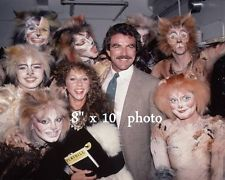 TOM SELLECK BROADWAY BACKSTAGE CATS photo w JILLIE MACK L137