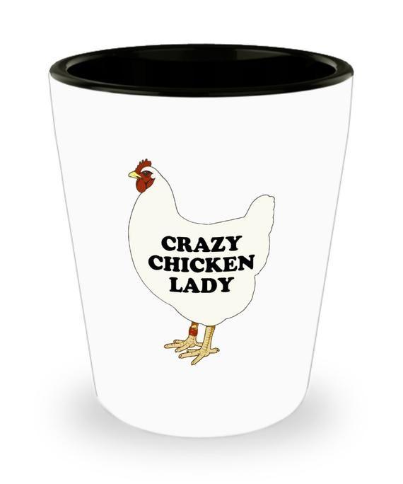 Funny Chicken Shot Glass – Hen Present – Chicken Lover Gift – Pet Chicken Gift – Present For Fans Of
