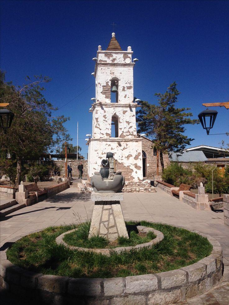 Plaza Toconao Torre iglesia