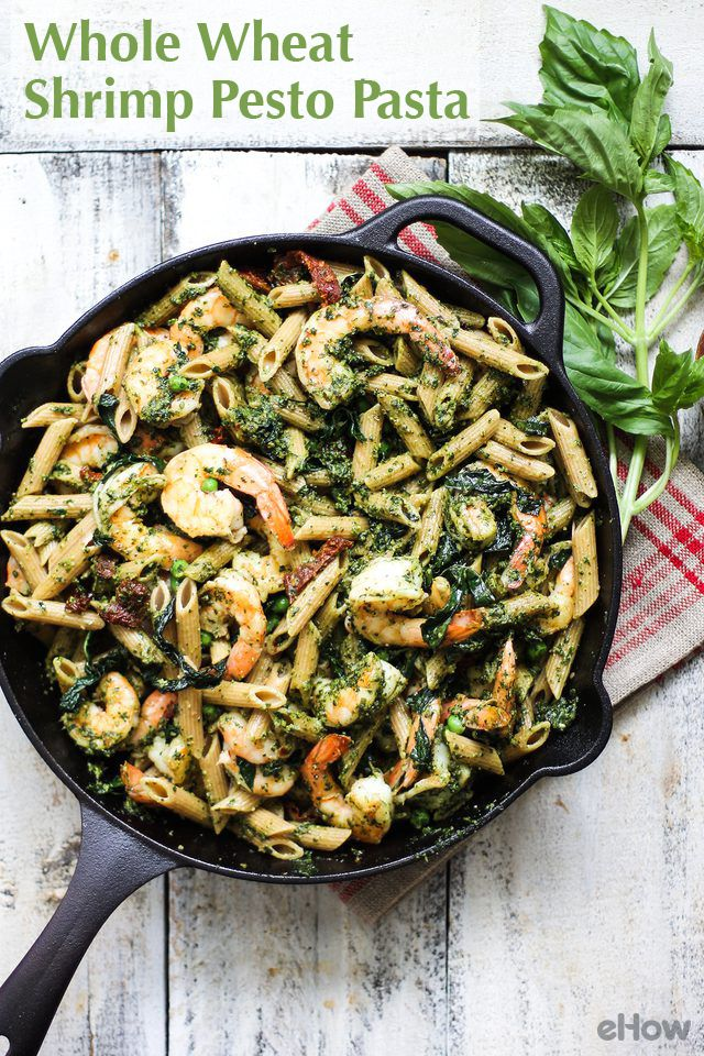 Healthy, fast, satisfying and oh, so tasty! This whole wheat shrimp pesto pasta is an easy weeknight meal that looks way fancier than it is to make. Plus, it's a one pot meal!  http://www.ehow.com/how_12343694_healthy-one-pot-meal-whole-wheat-shrimp-pesto-pasta.html?utm_source=pinterest.com&utm_medium=referral&utm_content=freestyle&utm_campaign=fanpage