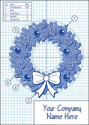 33 best engineering cards images on pinterest building business personalized with your logo the wreath blueprint christmas card lets you send a sign of gratitude to clients during the holidays shop now reheart