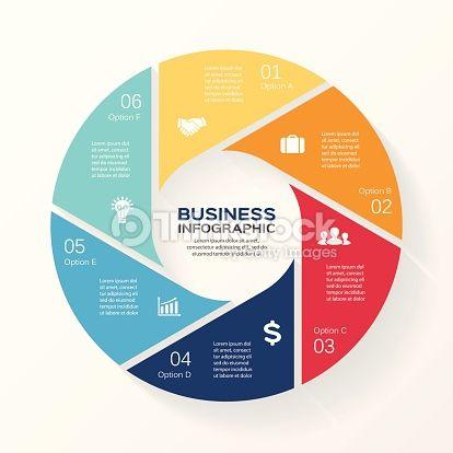 Vector Art : Circle infographic, diagram, presentation 6 options