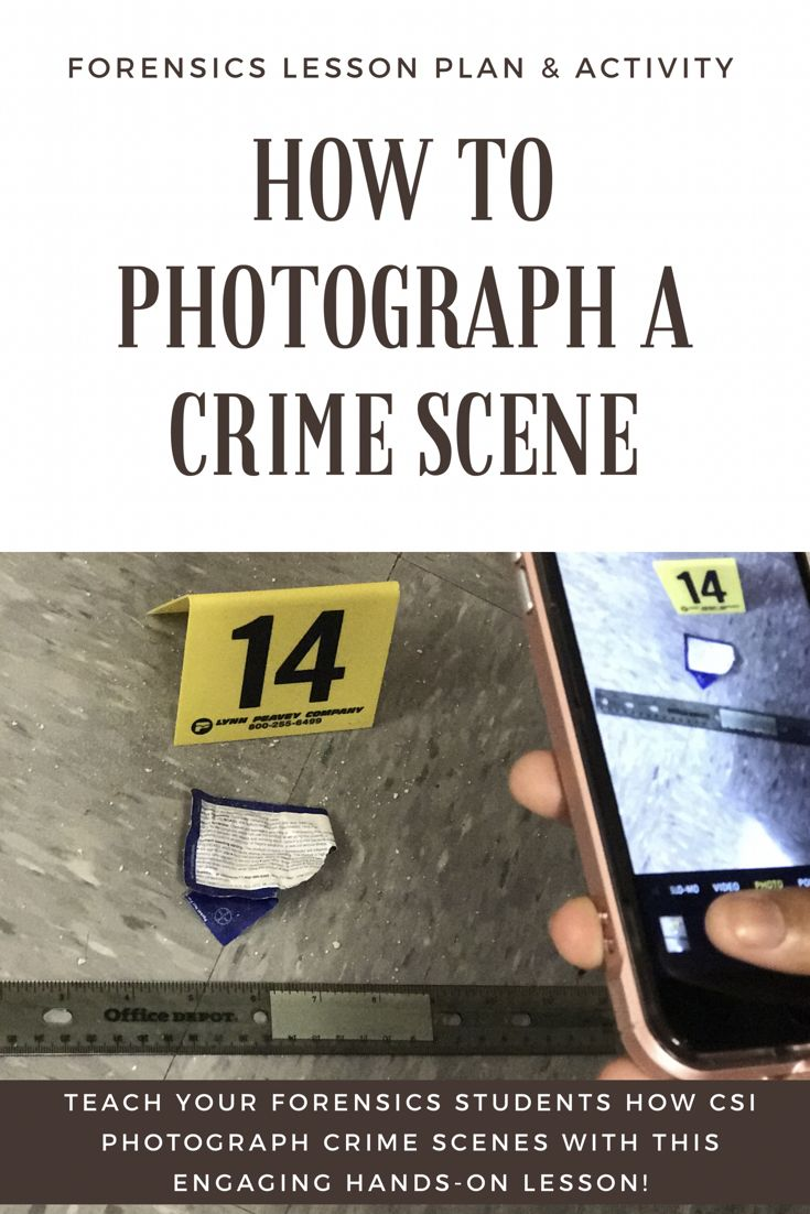 Teach your Forensics students the proper techniques for photographing a crime scene with this super engaging lesson plan and activity set!