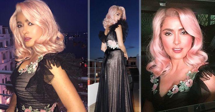 Salma Hayek sorprende en Cannes y demuestra que el cabello de colores fantasía no exclusivo para jóvenes: ¡su 'look' rosa pálido fue el mejor de la noche!