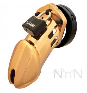 CB-6000 Designer Gold Male Chastity Cage Kit | Nice 'n' Naughty | http://www.nicennaughty.co.uk/cb-6000-designer-gold-male-chastity-cage-kit.html