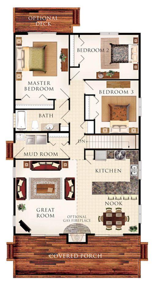 M s de 17 ideas fant sticas sobre planos de casas en pinterest planos de casa de cuatro - Planos de casas de campo rusticas ...