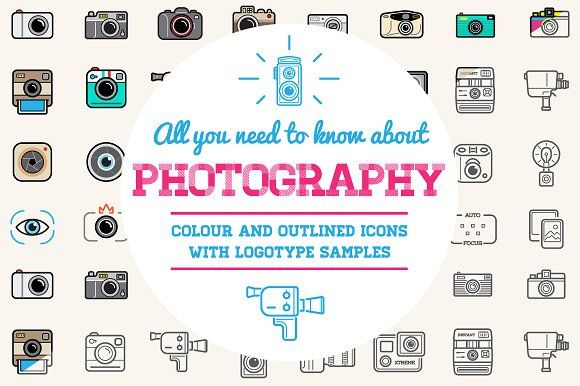 Awesome Photo Icons and Logo Set by Ckybe's Corner on @creativemarket