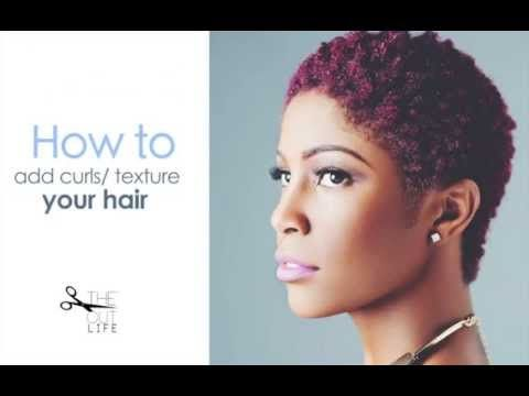 How to create curly/ textured natural hair with a barber's sponge - YouTube