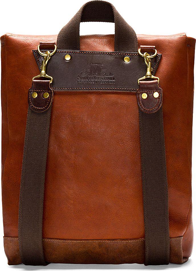 Junya WATANABE   Maroon Junya Watanabe X Seil Marschall Leather Backpack