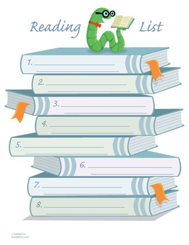 Summer reading list. This site has a ton of fun printables for kids & planning for parents/nannies.