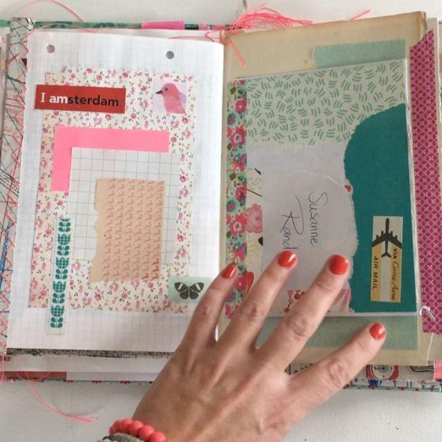 H A V E  A  L O O K ✍🏻️📜✂️📓💕 in my home sewn smash travel journal from my trip to Amsterdam in September. Now the book is finished 🙌🏻💗 Video 2 of 3... ♻️ Yihaaaaa! Så blev min rejsedagbog færdig fra min rejse til Amsterdam og rundt i Holland. En farverig collage med blanding af udklip, visitkort, postkort, notater, doodles, billeder og masser af fint papir... 💟 Video 2 af 3... ♻️ #tadah #traveljournal #travelbook #travelsmashbook #homemade #junkjournal #artjournal #sweetmemories…