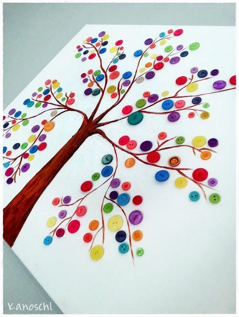 Baum mit Knöpfen zeichnen DIY – #Baum #DIY #Knöp…