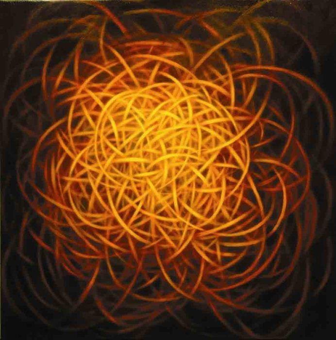 Abstract painting by Shane Guffogg