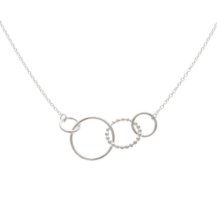 Buy the Silver Oyo Triple Ring Necklace at Oliver Bonas. Enjoy free worldwide standard delivery for orders over £50.