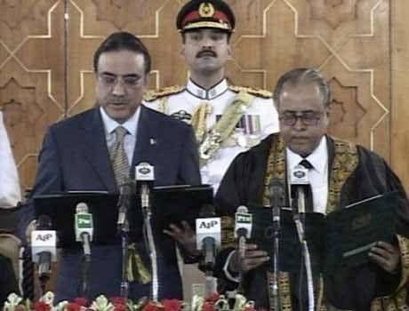 Asif Ali Zardari Sworn In As12th President Of Pakistan