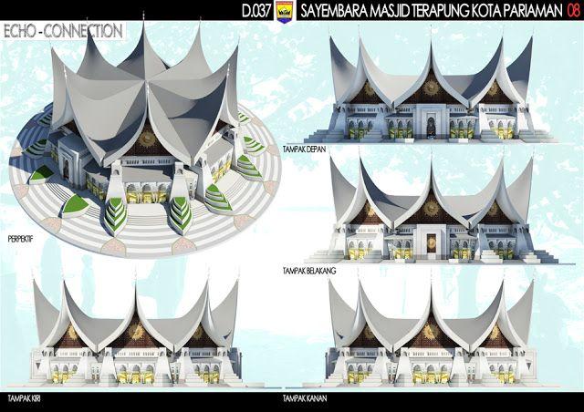 """Sayembara Masjid Terapung Kota Pariaman """"Konsep Desain 4"""" ~ 1000+ Inspirasi Desain Teknologi Konstruksi Arsitektur"""