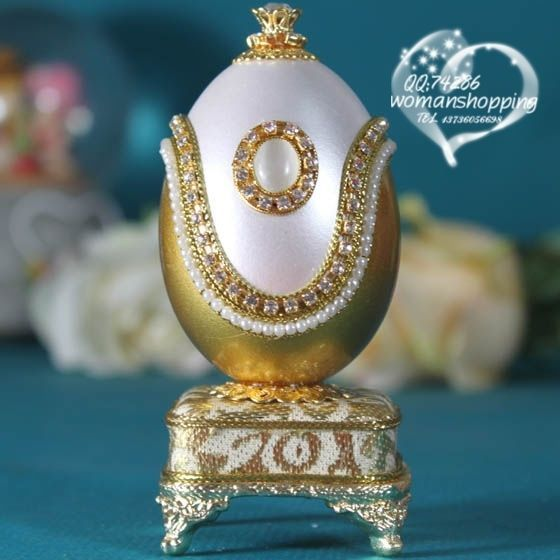 Gold  Faberge style Russian carved egg music box free shipping e08 on AtomicMall.com http://atomicmall.com/view.php?id=2287298_source=Twitter_medium=ProductToools