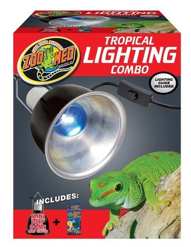 Zoo Med Tropical Lighting Combo Pack Deep Dome Daylight Blue Reptile Terrarium