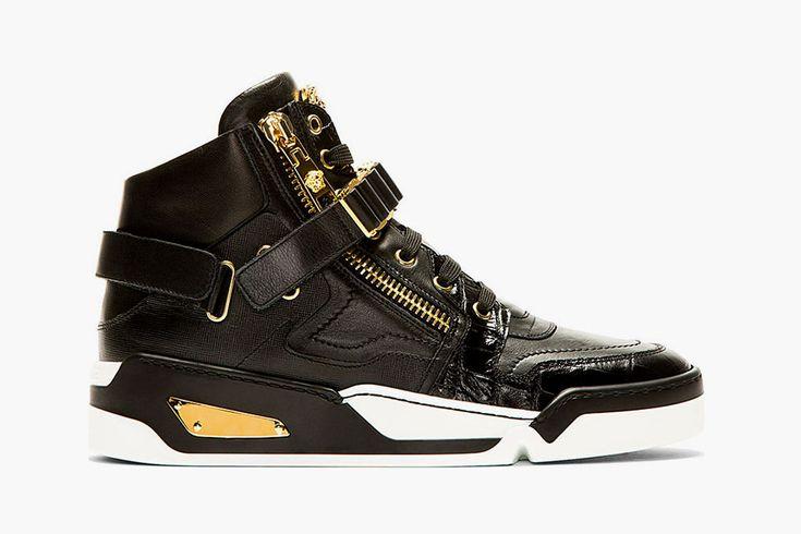 Versace Black Leather High-Top Spring/Summer 2014 Sneakers