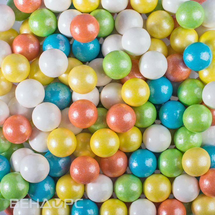 """Жевательная резинка 25 мм """"Жемчужный дождь"""" zed candy #gumballs #pearl"""