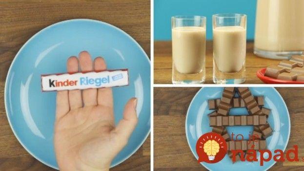 Fantastický domáci likér z Kinder čokolády: Tomuto neodolá žiaden dospelák!