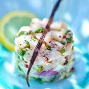 Tartare de daurade à la vanille - une recette Tartare de poissons - Cuisine