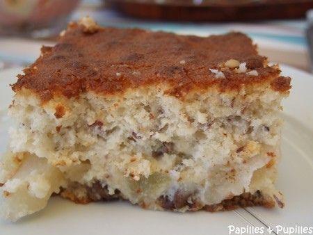 Gâteau léger poires noisettes