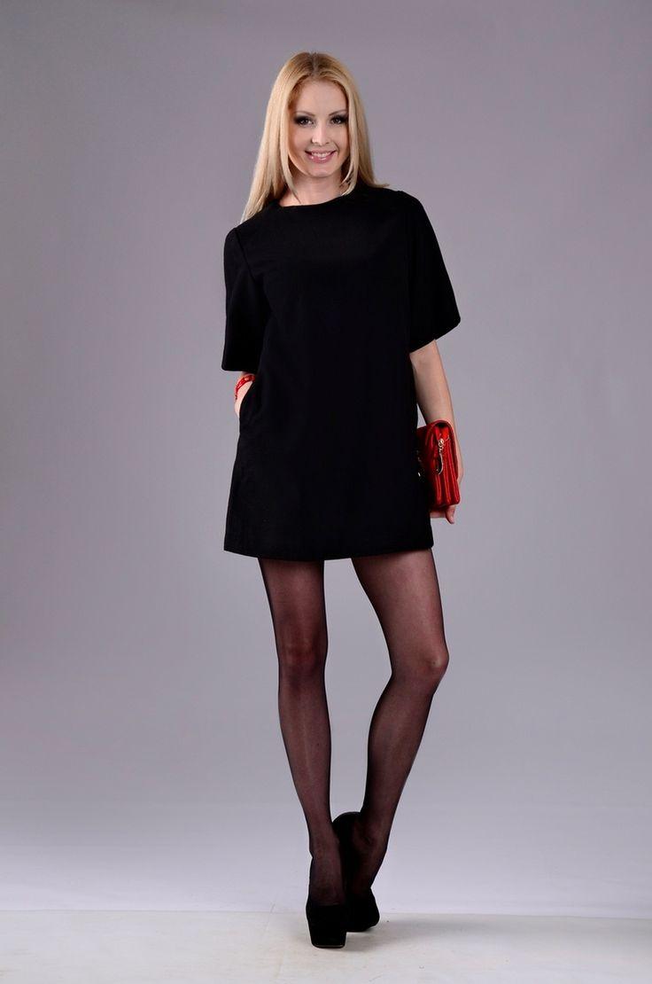 Короткое чёрное тёплое платье — http://fas.st/h1JwH