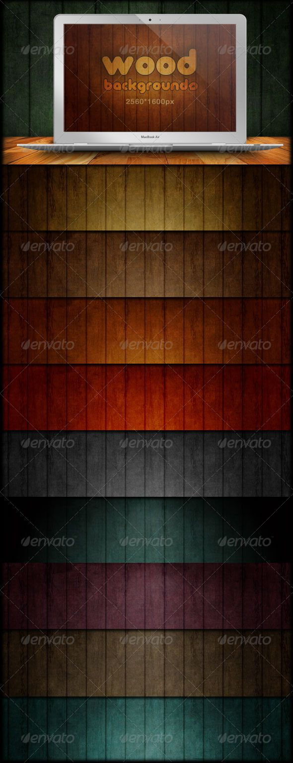 Wood Backgrounds - Grunge & Scratch  #GraphicRiver         This set includes 10 wood textured backgrounds for your design projects. Use them however you like to give your projects a professional look and feel.  	 The folder also contains a handy psd file with four different lighting effects. Two will darken the edges of your background. The others create highlights on the top and middle of your page. You can also experiment by moving the lighting effects around the layout to light different…