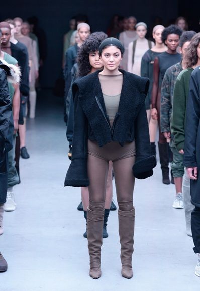Kylie Jenner makes her catwalk debut at the Adidas Originals x Kanye West  YEEZY show during