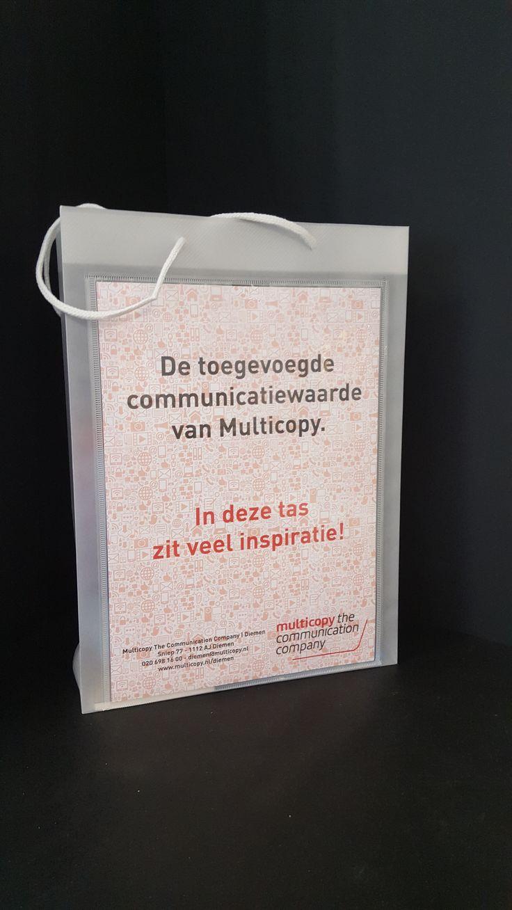 Multicopy The Communication | Diemen tas, in deze tas zit veel inspiratie! Ben je nieuwsgierig! Kom gerust een tas halen!