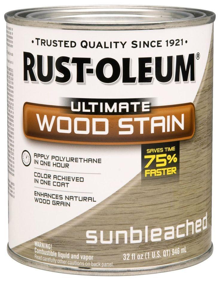 Rust-Oleum 260155 Ultimate Wood Stain, Quart, Sunbleached - Amazon.com