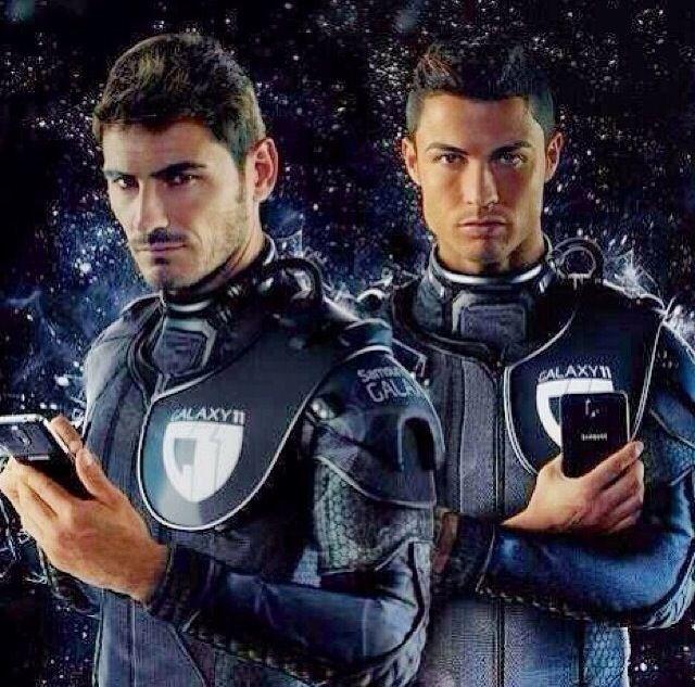 Iker Casillas and Cristiano Ronaldo