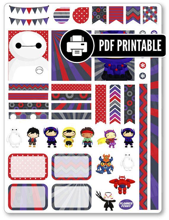 Robot Heroes PDF Kit planeador para imprimir por PlannerPenny