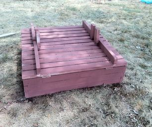 Building a large sandbox with bench seat lids, buy bulk sand, way cheaper