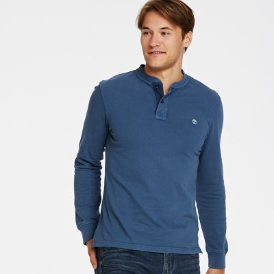 Timberland Men's Essential Henley Shirt Dark Denim